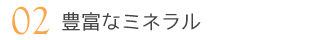 02 豊富なミネラル